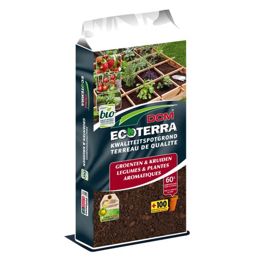 Terreau DCM Ecoterra légumes et plantes aromatiques 60L