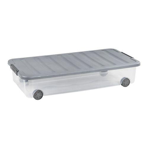 Curver rollerbox Scotti transparant steel 35L