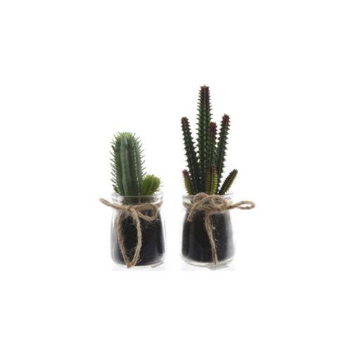 Cactus plastique Kaemingk 17 cm - 2 pcs