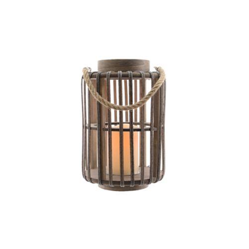 Lanterne Kaemingk 'Jungle' brun 40 cm