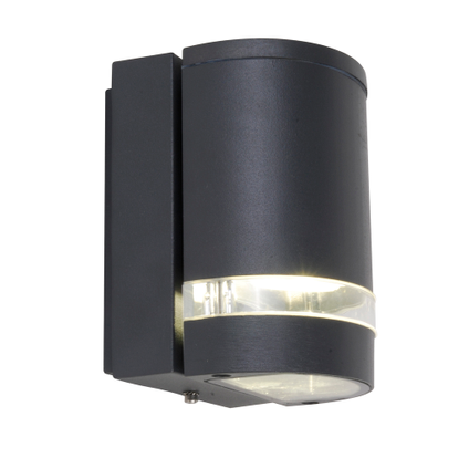 Lutec wandlamp Focus rond donker grijs 35W