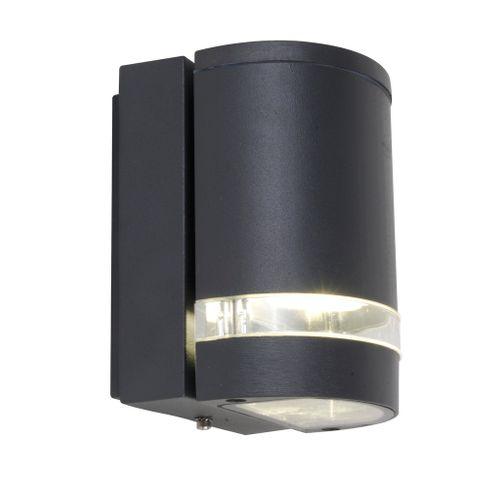 Lutec buiten wandlamp Focus donkergrijs 35W