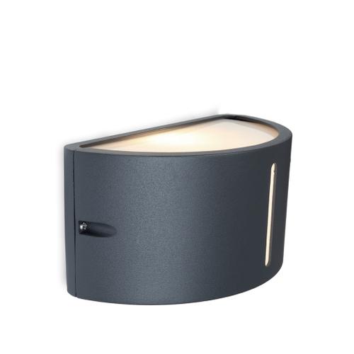 Lutec wandlamp Bonn donker grijs 60W/15W CFL
