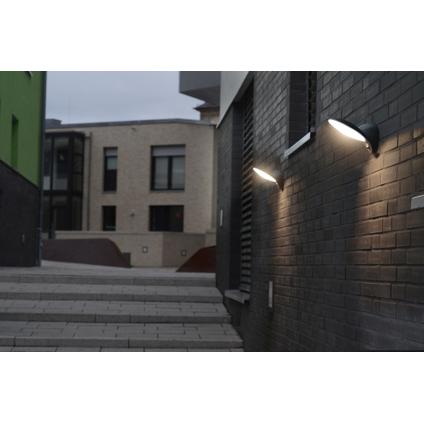 Lutec wandlamp Tona donker grijs met bewegingssensor 9W