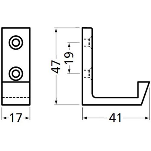 Hermeta aluminium profiel jashaak 0139-02E