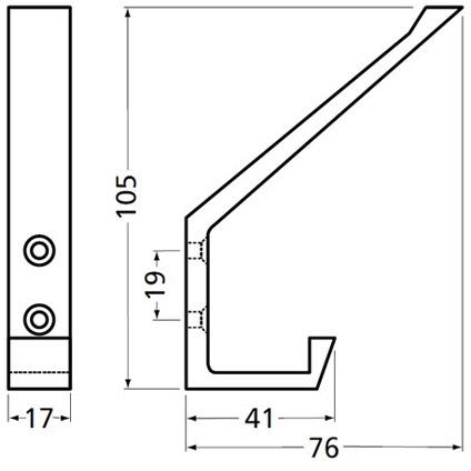 Hermeta aluminium profiel hoed-/jashaak 0138-01E