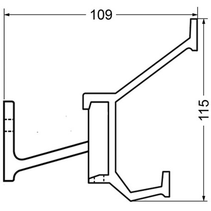 Hermeta aluminium kapstok 7 haken 2684-11W