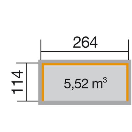 Weka haardhoutopslag 663B GR.2 onbehandeld x114x264cm