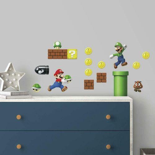 RoomMates muursticker Super Mario Bros 25x46 cm
