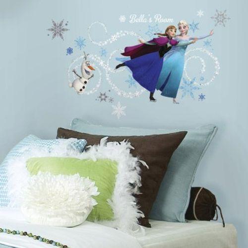 RoomMates muursticker Frozen Anna, Elsa en Olaf 46/23 x 101 cm