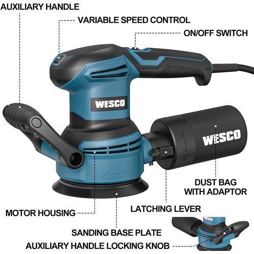 Wesco excentrische schuurmachine 'WS4258' 400W