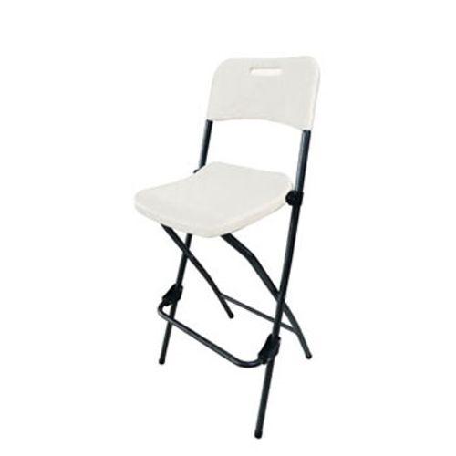 Chaise pliante haute Central Park polyéthylène blanc