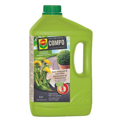 Compo anti-onkruid en anti-mos 'Pad en terras' spray 2,5 L