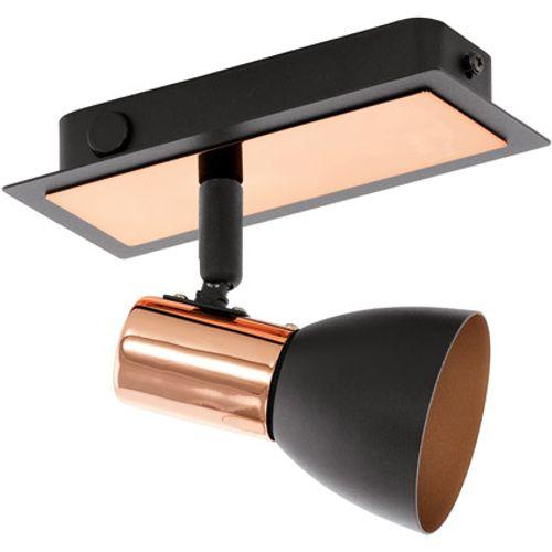 Eglo spotlamp 'Barnham' koper/zwart 3,3 W