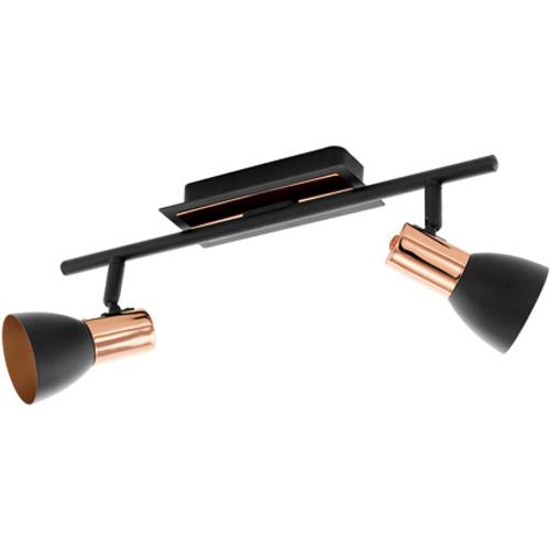 Eglo spotlamp 'Barnham' koper/zwart 2 x 3,3 W