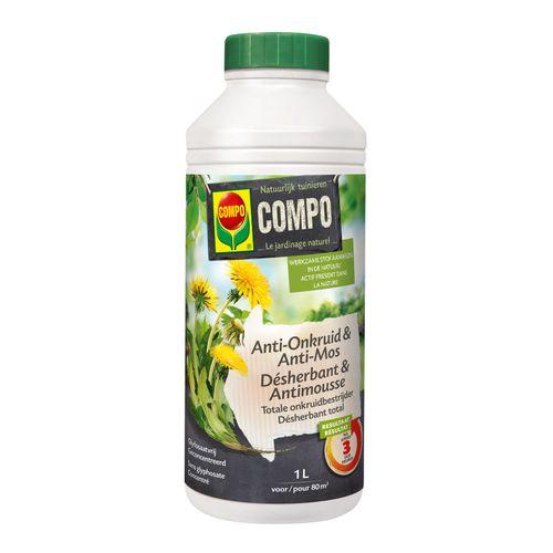 Compo anti-onkruid en anti-mos 'Total' concentraat 1 L