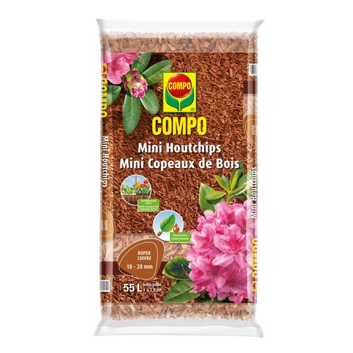 Compo mini houtchips koper 55L