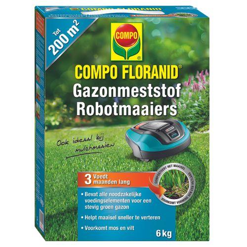 Engrais gazon tondeuses robots Compo Floranid 200m² 6kg