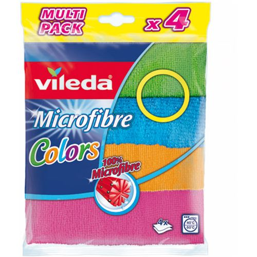 Lavette microfibres Vileda 'Colors' - 4 pcs