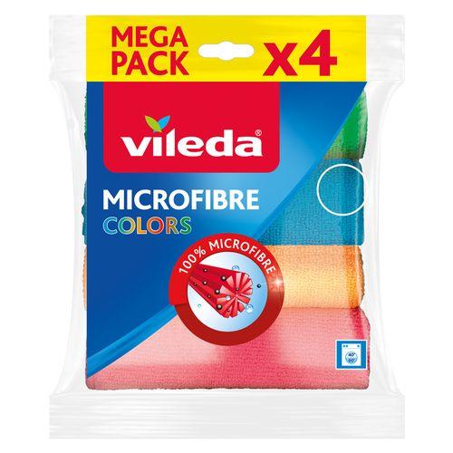 Vileda microvezeldoekje 'Colors' - 4 stuks