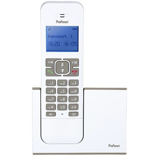 Profoon draadloze design DECT telefoon PDX-8400 wt/e solo