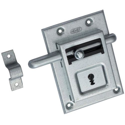 Nemef grendelslot met sluitbeugel 98/12 2 sleutels