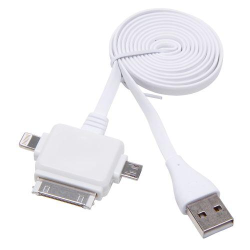 Câble de raccordement 3-en-1 Kopp micro-USB/éclairage/Iphone 4
