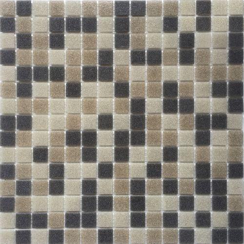 Feuille de mosaïque 33 x 33 cm mix beige gris