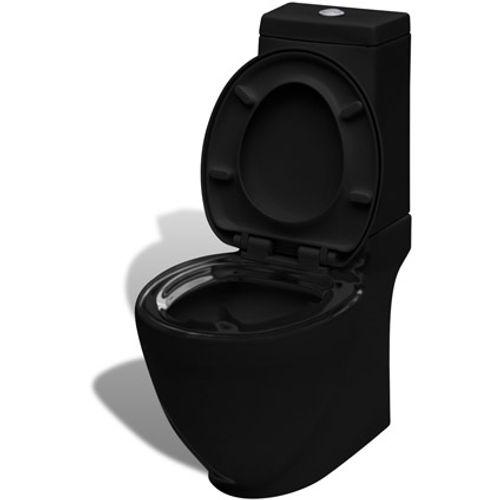 Rechthoekig keramisch toilet zwart
