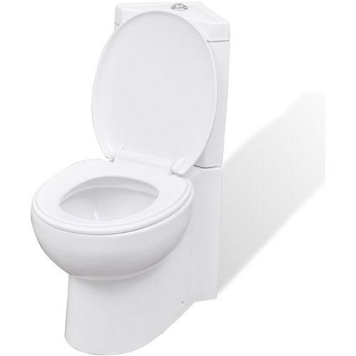 Keramisch toilet voor in de hoek wit