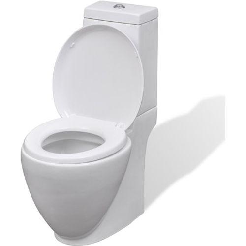 Keramisch toilet rond wit