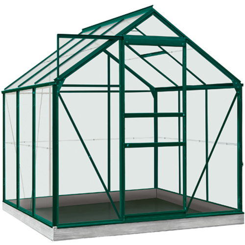 Serre ACD 'Intro Grow Daisy' verre Sécurit & aluminium vert 3,8 m²