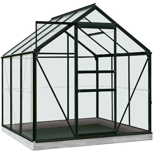 Serre ACD 'Intro Grow Daisy' verre Sécurit & aluminium noir 3,8 m²