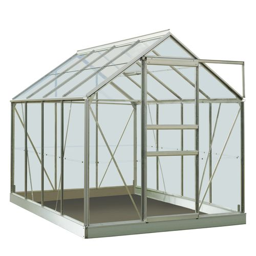 ACD serre Intro Grow Ivy gehard glas & aluminium grijs 5 m²