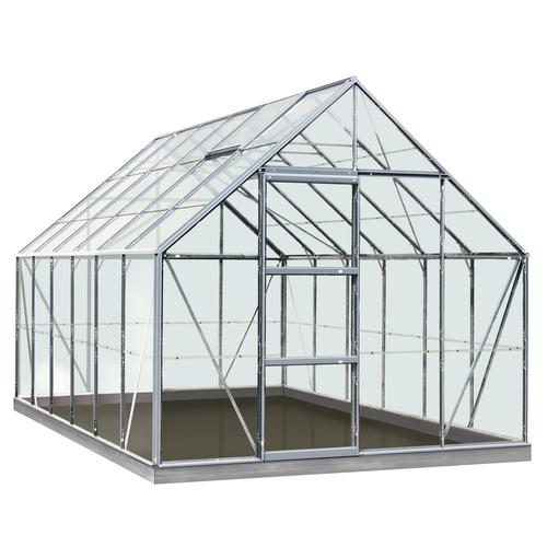 Serre ACD 'Intro Grow Oliver' verre Sécurit & aluminium gris 9,9 m²