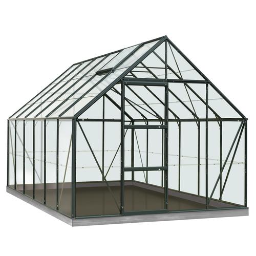 Serre ACD 'Intro Grow Oliver' verre Sécurit & aluminium vert 9,9 m²
