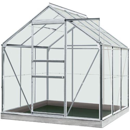 ACD serre Intro Grow Daisy gehard glas & aluminium grijs 3,8 m²