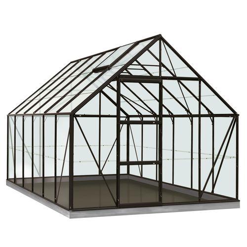 Serre ACD 'Intro Grow Oliver' verre Sécurit & aluminium noir 9,9 m²