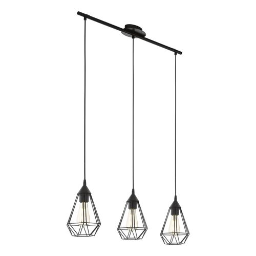 EGLO hanglamp Tarbes zwart 3xE27