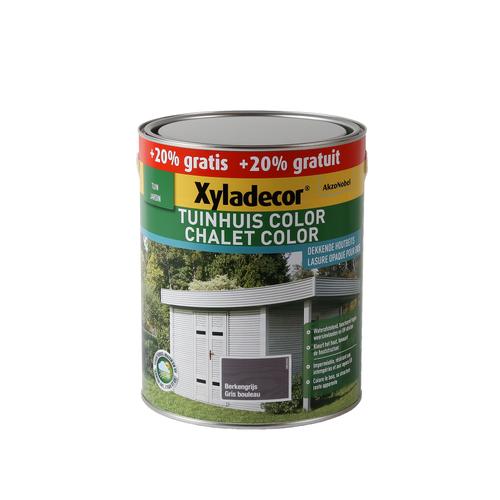 Lasure Xyladecor 'Chalet Color' gris bouleau mat 3L