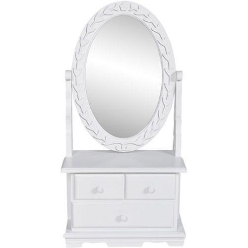 Kaptafel spiegel Femke wit