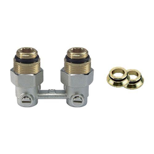 "Module hydraulique H Saninstal deux tuyaux 3/4"" laiton"