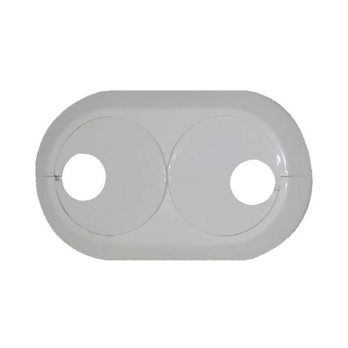 Rosace pour tuyau double Saninstal Ø16mm blanc