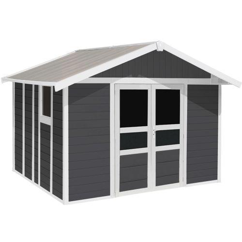 Grosfillex Tuinhuis Basic Home polypopryleen antraciet 11m131