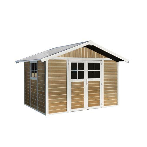 Grosfillex tuinhuis 'Deco 7,5' PVC sherwood 7,04 m²