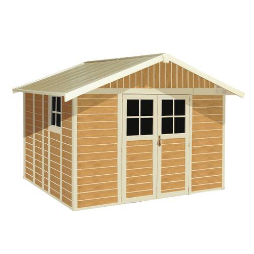 Grosfillex tuinhuis 'Deco 11' PVC sherwood 10,60 m²