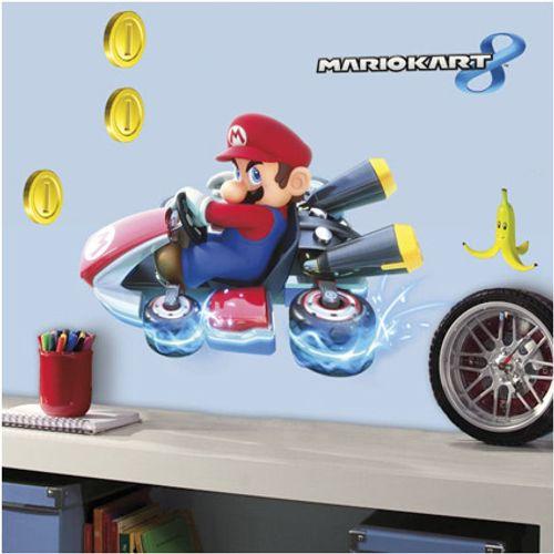 RoomMates muursticker Mario Kart 8 4 vel 25x46 cm
