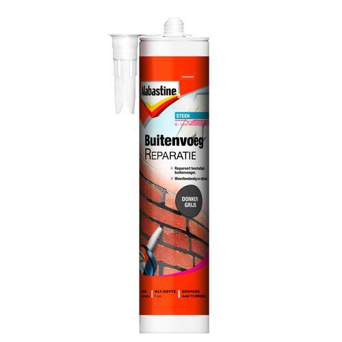 Alabastine buitenvoegreparatie donkergrijs 310 ml