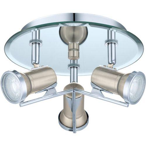 Eglo spotlamp 'Tamara 1' nikkel/chroom rond 3 x 3,3 W