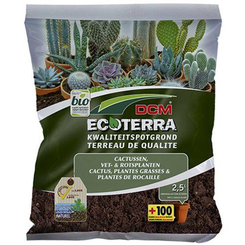 Terreau DCM 'Ecoterra' cactus, plantes grasses et plantes de rocaille 2,5 L